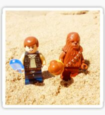 Han & Chewy At The Beach Sticker