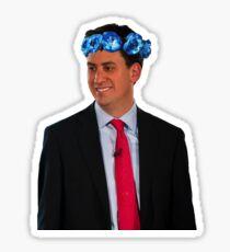 Ed Miliband Flower Crown Sticker