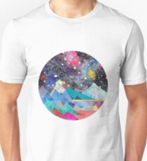 Aries Constellation Watercolor Mountains Unisex T-Shirt
