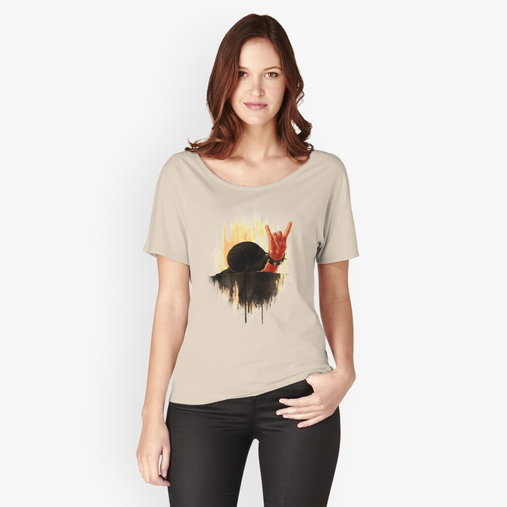 Rock Hard Snail Women's Relaxed Fit T-Shirt Front