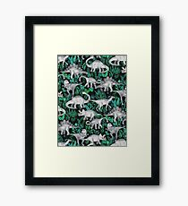 Dinosaur Jungle Framed Print