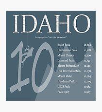 Idaho - Top 10 Peaks Photographic Print