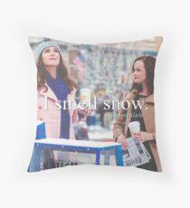 Smell Snow Throw Pillow