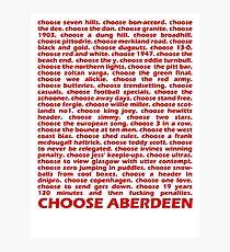 Choose Aberdeen. Photographic Print