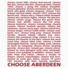 Choose Aberdeen. by givemeone
