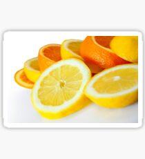 Oranje Lemon Sticker