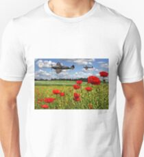 Spitfires and Poppies Unisex T-Shirt