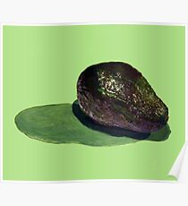 Realistic Acrylic Avocado Poster