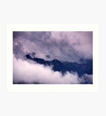 Ammer Mountain Peaks Art Print
