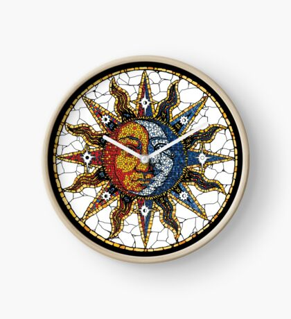 Celestial Mosaic Sun and Moon COASTER Clock