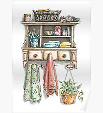 Kitchen Shelf Poster