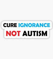 Autism Cure Stickers | Redbubble