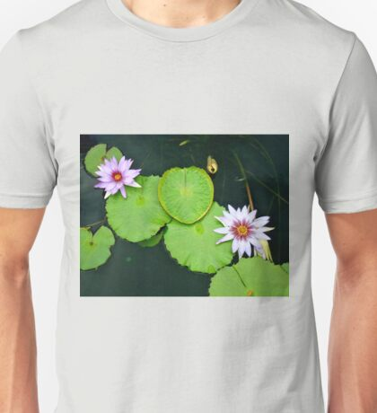 Lily Pads & Flowers - original nature photography  T-Shirt