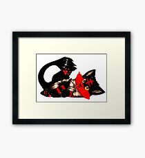 Litten the fire kitten Framed Print