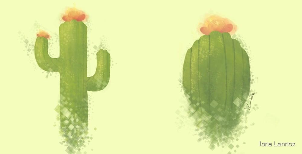 pixel cacti by Iona Lennox