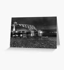 THE FORTH BRIDGE IN MONOCHROME. Greeting Card