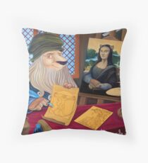 Lionnardo da Vinci Throw Pillow