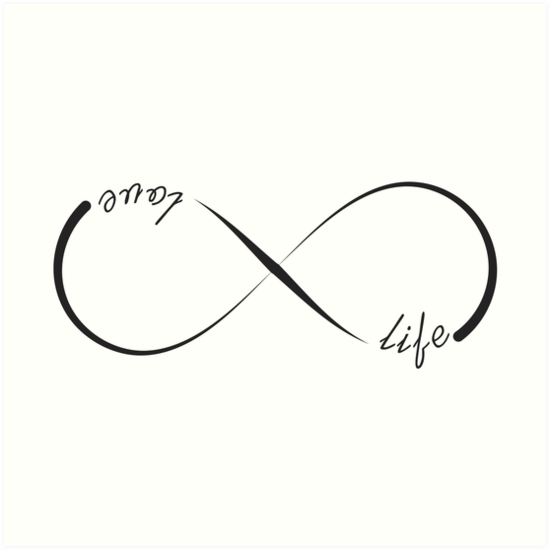infinity symbol vector love the life you live clipart ... |Infinity Symbol Love Life