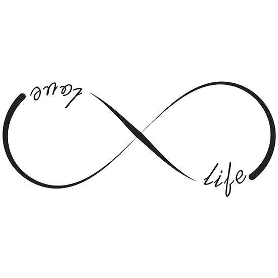 Love Life Infinity Symbol Posters By Pixxart Redbubble