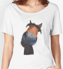 HAPPY HORSE 'HAPPY DAVE' BY SHIRLEY MACARTHUR Women's Relaxed Fit T-Shirt