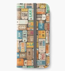 Luggage Tags Retro	 iPhone Wallet