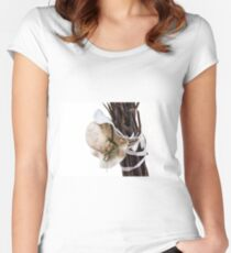 isolated  hats Women's Fitted Scoop T-Shirt