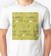 Camping Seamless Pattern Unisex T-Shirt