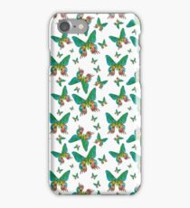 Grüne Schmetterlinge iPhone Case/Skin