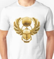 Gold Egyptian Scarab Unisex T-Shirt