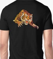 TIGER, Head, Attack, Pounce, Growl, on BLACK Unisex T-Shirt