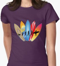 Surfer Evolution Womens Fitted T-Shirt