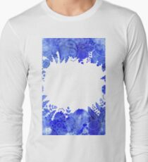Blue Floral Pattern 04 Long Sleeve T-Shirt
