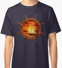 Sailboat Sunset Classic T-Shirt