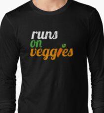 Runs on Veggies | Vegan T-Shirt  Long Sleeve T-Shirt