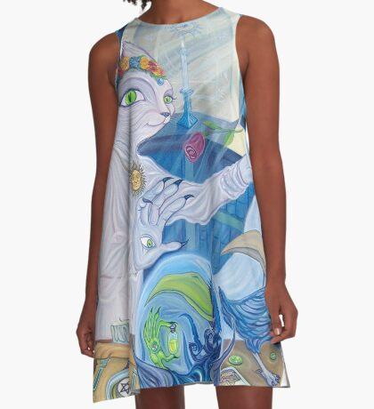 White Witch A-Line Dress