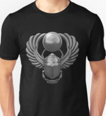 Silver Egyptian Scarab Unisex T-Shirt