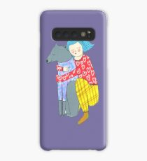 Girl and her dog Case/Skin for Samsung Galaxy