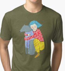 Girl and her dog Tri-blend T-Shirt
