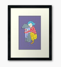 Girl and her dog Framed Print
