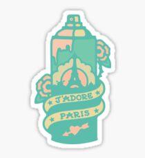 Paris Spray Paint Can Sticker