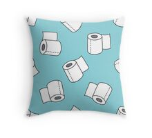 doodle pattern. toilet paper Throw Pillow