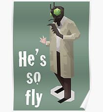 He's so fly (white text for colour shirts) Poster