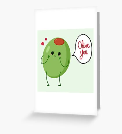 Olive you! #digistickie Greeting Card