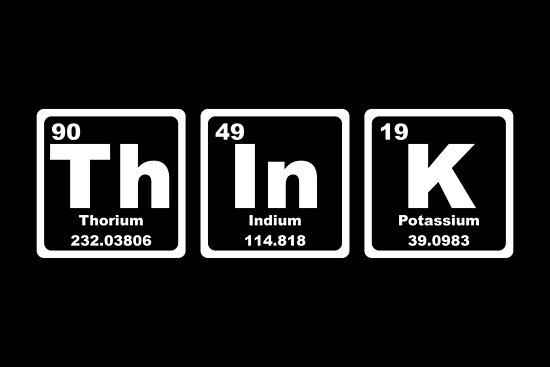 Think Periodic Table Posters By Graphix Redbubble