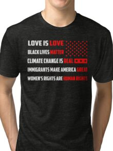Love Is Love Trump - White Tri-blend T-Shirt
