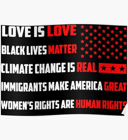 Love Is Love Trump - White Poster
