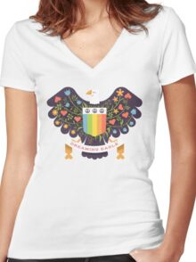 Dreaming (not Screaming) Eagle Women's Fitted V-Neck T-Shirt