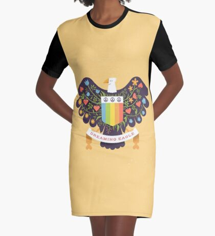 Dreaming (not Screaming) Eagle Graphic T-Shirt Dress