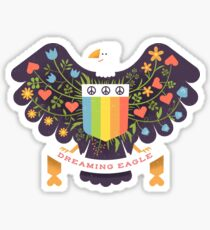 Dreaming (not Screaming) Eagle Sticker
