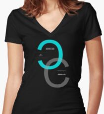 Deeper Love Deeper Life Sentence Motivational Quote Text Women's Fitted V-Neck T-Shirt